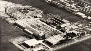 Arial shot of Wunderlich asbestos factory.